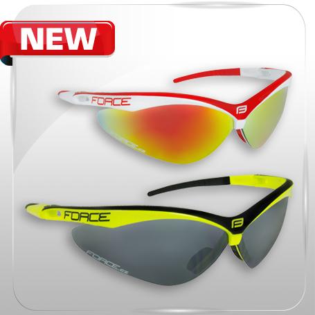 Nové cyklistické okuliare FORCE AIR s polykarbonátovými sklami